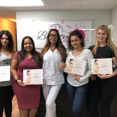 Estudiantes del entrenamiento de plasma pen fibroblast en Miami Florida